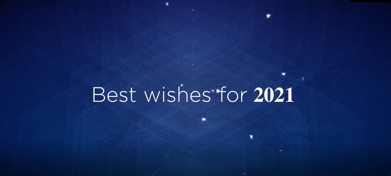 Meilleurs vœux pour 2021 ! Best wishes for 2021 !